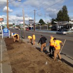 Students from Reynolds High School came out to lend a hand.